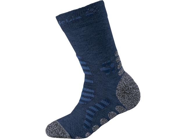 Jack Wolfskin Hiking Stripe Classic Cut Socks Kids dark indigo